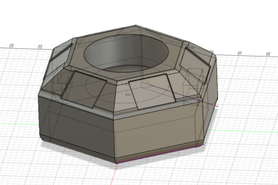 3D model of updated body in Fusion 360